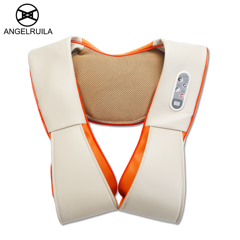 Angelruila Body Knocking Massager Cervical Neck Back Beat Massage Shawl Pain Relief Tapping Therapy Cervical Health Care massaje high end health care neck cervical traction ems therapy massage collar infrared heating magnet vibration massager pain relief