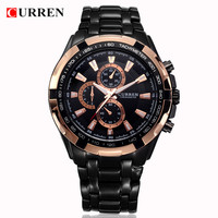 CURREN Fashion Mens Watches Top Brand Luxury 2016 Rose Gold Watch Military Sport Wrist Watch Waterproof