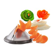 Creative Kitchen Tools Accessories Gadget Funnel Model Spiral Slicer Vegetable Shred Device Cooking Salad Carrot Radish Cutter