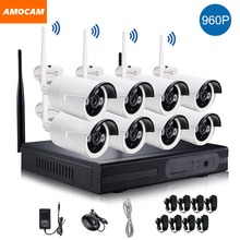 1280*960P Wireless System Network/IP Camera 8CH 960P HD WIFI NVR AUTO-PAIR Wireless CCTV Surveillance Systems Home Security