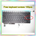 "Brand New For MacBook Pro 15.4"" A1286 Small Enter RS Russian keyboard+Backlight Backlit+100pcs keyboard screws 2009-2012 Years"