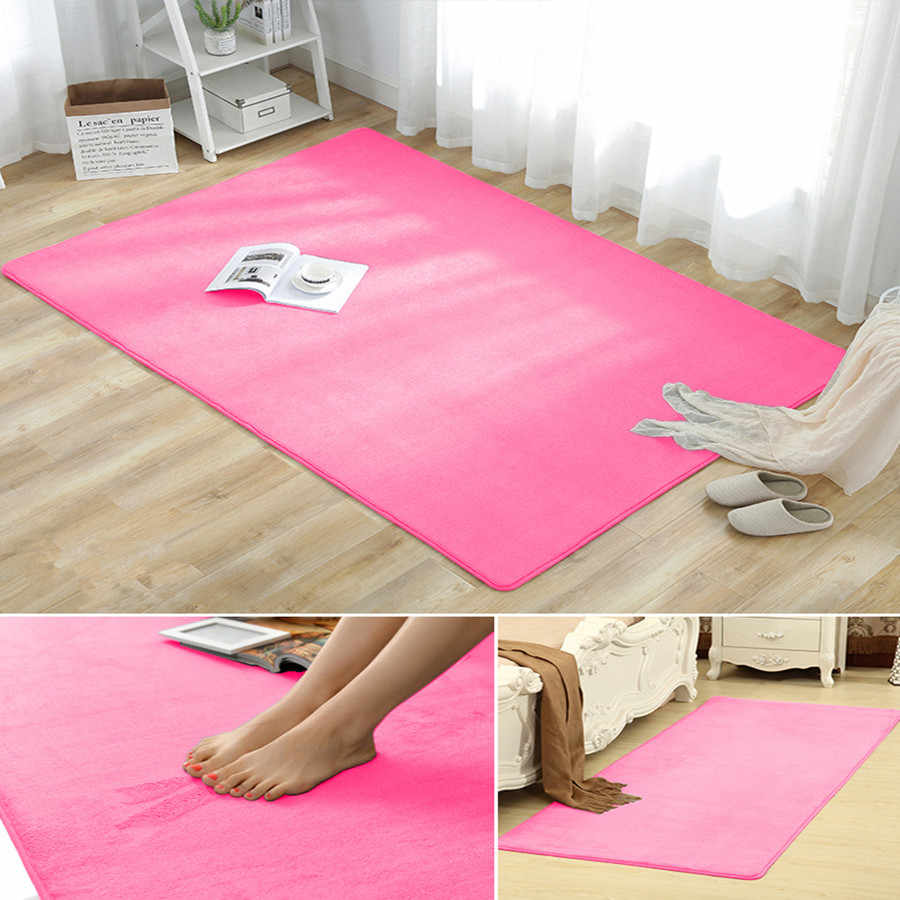 Alfombra de lana de coral Europea sala de estar dormitorio mesa de café sofá baño alfombra de noche tapetes Tatami yoga manta bebé alfombra