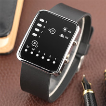 Cool LED Binary Watch Blue Backlight Fashion Men Women Geek Digital