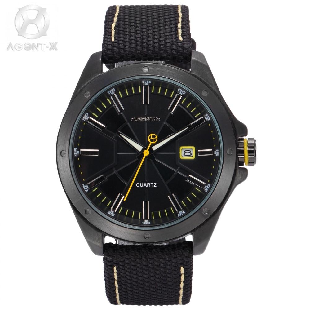 Original AgentX Brand Grosse Montre Pour Homme Nylon Material Complicated Dial Unique Designed Movement Watch Gift Box / AGX148 nature pour homme д шево по запорожью