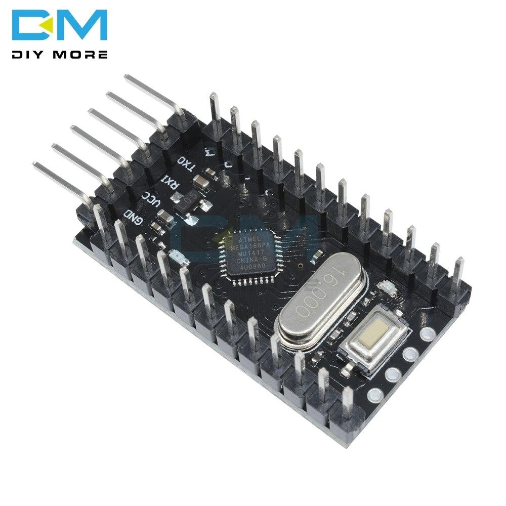 ATMEGA168P Pro Mini ATMEGA168 16MHz płyta bootloadera dla Arduino 5V 16M mikrokontroler mikro moduł sterujący wymienić Atmega328p
