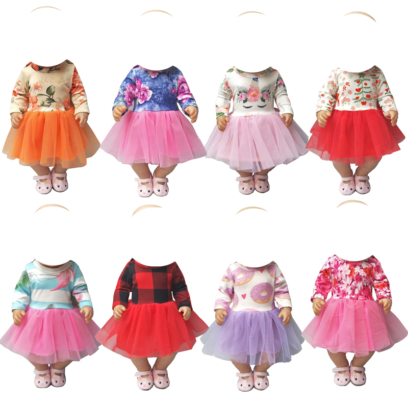 Doll Clothes Dress For 43cm  Doll Dress For 18 Inch Girl Doll Unicorn Dress Baby Dolls Clothes Children Gifts