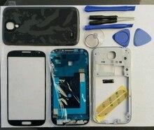 Полный Жилищно Case Ближний Рамка + Резиновое Уплотнение Задняя Крышка + Стеклянный Объектив + + Кнопки + Инструменты Замена Части Для Samsung Galaxy s4 i9505