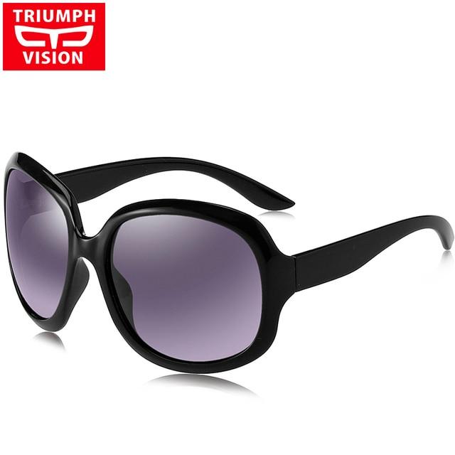 7f20c39342 TRIUMPH VISION Oversize Butterfly Sunglasses Female Polarized UV400 Gradient  Sun Glasses For Women Fashion Style Ladies Shades