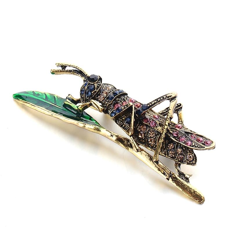 Пчела, жук, краб, муравьи, улитка, броши с птицами, Скорпион, стразы, Винтажные Украшения в виде животных, брошь - Окраска металла: 13