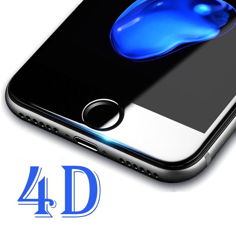 4D 9 H твердость изогнутый край закаленное Стекло для iPhone 6 Стекло...