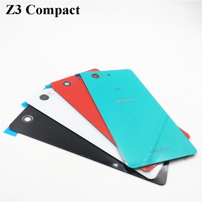 1 stücke Für Sony Xperia Z3 Compact Mini D5803 D5833 Fällen Glas Batterie Gehäuse Cover Ersatz Back Cover Fall + NFC