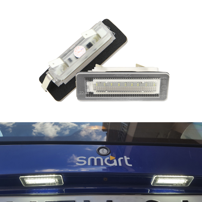 2x LED SMD License Plate Number Lights Smart Fortwo Coupe W450 450 US