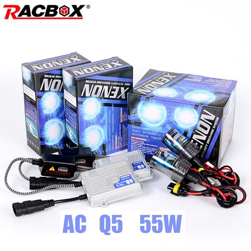 55W Quick Start Ballast HID Bulb Retrofit Xenon Conversion Kit H1 H3 H7 H11 HB3 HB4 4300k 6000k 8000k Fast Bright Ignition Block