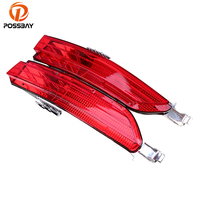 POSSBAY Red Rear Bumper Reflector Tail Light Bars Brake Parking Warning For VW Touareg Typ 7P
