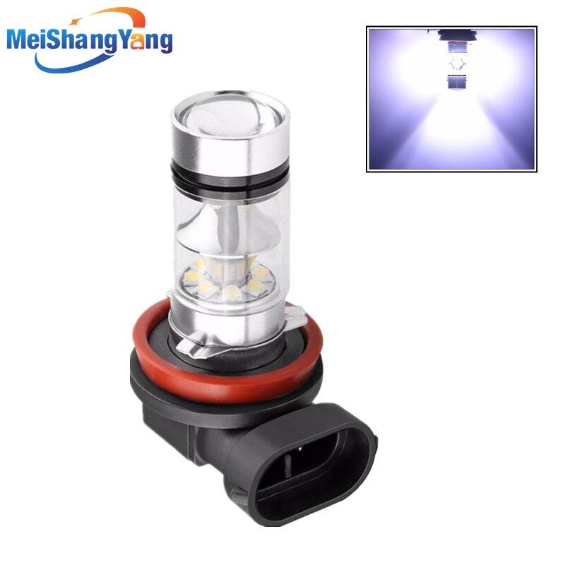 H8 H9 H11 Super Bright LED Bulbs Car Fog Lights Driving Tail Lamp Car Light Source Parking 1250LM 12V - 24V 100W 6000K White