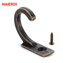 NAIERDI 30PCS Antique Hooks Wall Hanger Curved Buckle Horn Lock Clasp Small Hook For Wooden Jewelry Box Furniture Hardware