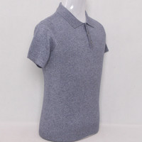 large size 100%cashmere knit men smart casual sweater pullover short sleeve polo collar EU/S105 4XL135 retail wholesale
