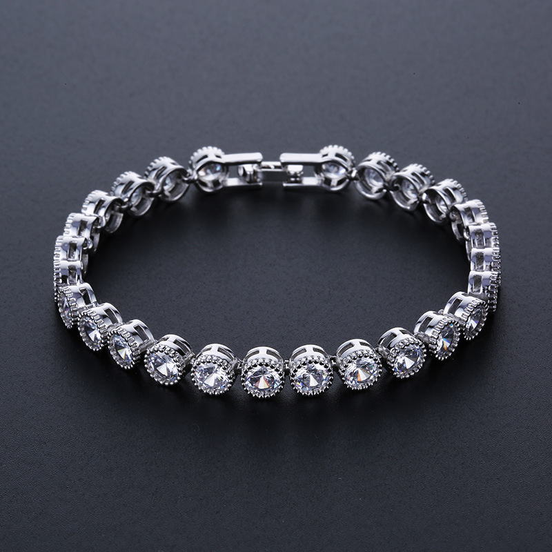 Utimtree Top Quality Luxury Brand Bracelet Sparkling Round
