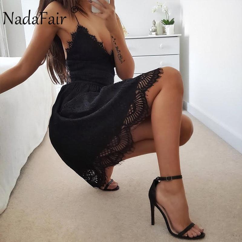 HTB14hKSabsTMeJjSszhq6AGCFXal - FREE SHIPPING Party Dress Sleeveless Lace-up Backless V Neck White Black 142