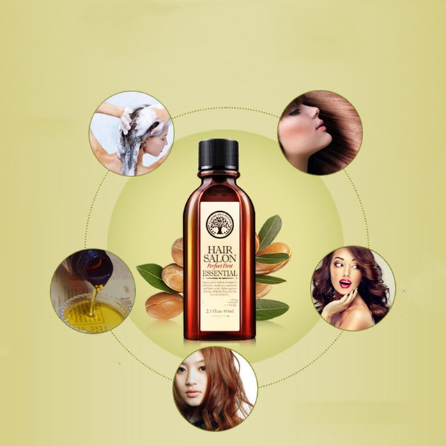 60ml Morocco Argan Oil Haircare Essential Oil Nourish Scalp Repair Dry Damage Hair Treatment Glycerol Nut Oil Hairdressing 1