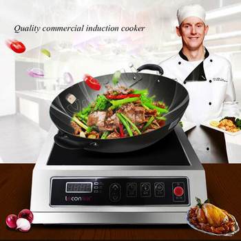 Commercial Induction Cooker 3500W High Power Induction Cooker Hotel Cooking Machine Stove Furnace LC-3500