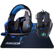 5500 DPI X7 Pro Gaming Mouse+EACH G2000 Hifi Pro Gaming Headset+Gift Big Gaming Mousepad