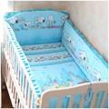 Promotion! 6PCS cot bedding set baby bedding set bedclothes (bumpers+sheet+pillow cover)