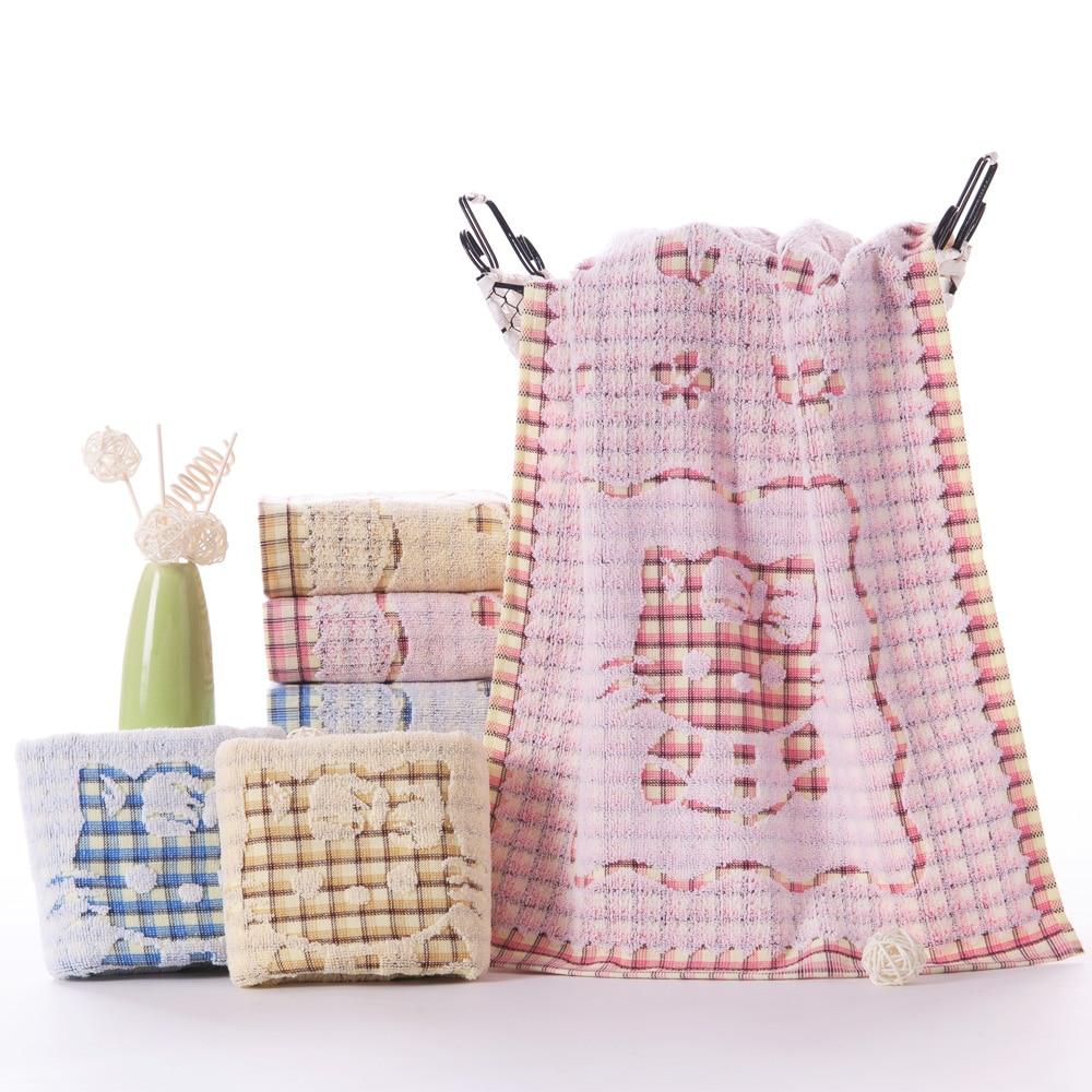 Oprecht 100% Katoenen Handdoek Volwassen Handdoek Veeg Gezicht Handdoek Washrag Cartoon Kat Zachte Goede Wateropname Economisch En Praktisch Superieure Materialen