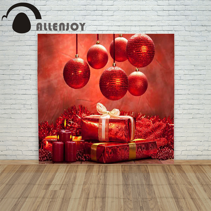 Christmas backdrop photography Allenjoy Gifts Lights Candles red background photographic studio vinyl children's funny christmas tree backdrop photography allenjoy wooden carpet fireplace xmas tree background photographic studio vinyl camera