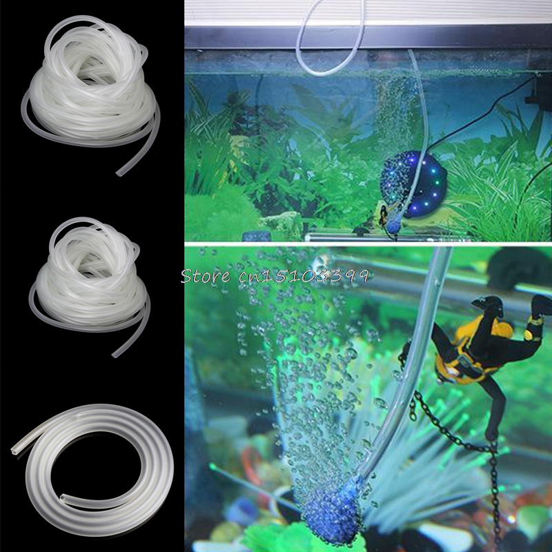 1/5/10m Clear Aquarium Silicone Tube Air Pump Oxygen Tubing For Fish Tank 4/6mm Drop Ship