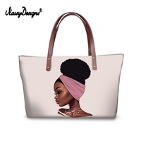 Noisydesigns Art Afro Print Women Shopping Bag Tote Hand Pink Girl Casual Top Handle Beach Shoulder Foldable Eco Custom D