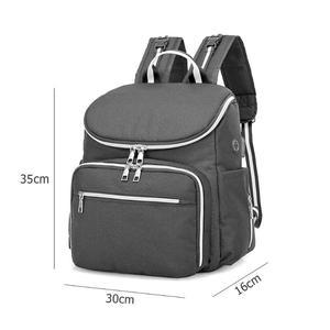 Image 5 - Bolsa de pañales para bebés recién nacidos con carga USB, mochila momia impermeable, bolso portátil, bolsa de maternidad para el cuidado del bebé