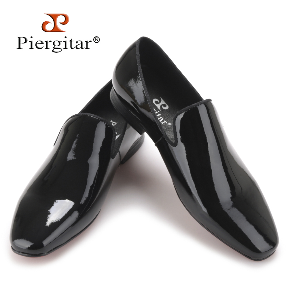 2017 New arrival Men black Patent Leather shoes Party and Wedding men dress shoes luxurious Handmade men loafers male's flats mathey tissot lucrezia d3082an