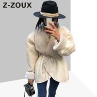 Z ZOUX женские пальто Искусственный мех пальто с длинными рукавами пальто из искусственного меха Для женщин зимняя куртка Для женщин на шнуро