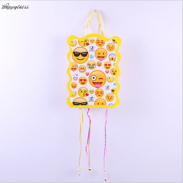 Super Cute 1pcs Emoji Pinata Childrens Kids Party Toy Paper Game Birthday Decoration Gift Bags Supplies