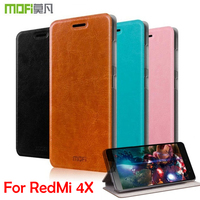 M New Mofi For Xiaomi Hongmi 4X Cell Phone Case Luxury Flip Leather Stand Cover Book