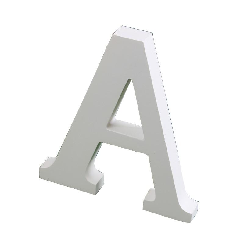 Алфавит деревянный для спальни, кабинета, гостиной, бара, свадебные украшения, белые буквы английского алфавита из МДФ, 15 см, 6 дюймов
