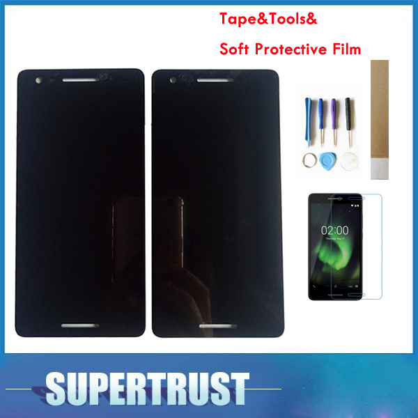 "5,5 ""1 pieza/lote para Nokia 2,1 2 (2018) TA-1080 TA-1084 TA-1092 TA-1093 pantalla LCD + MONTAJE DE digitalizador de pantalla táctil negro con kit"