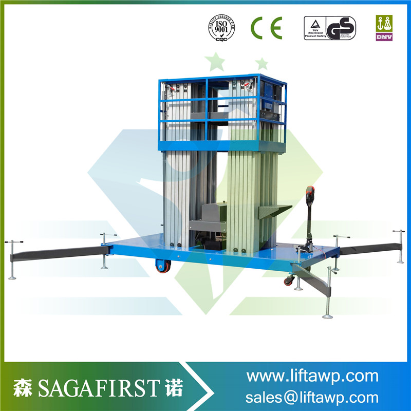 10-16M Lifting Height Aluminum Ladder Man Lift