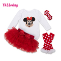 Valentine's Day Vestido Infantil baby Girl Suit Bodysuits Long Sleeve Romper Winter Newborn Clothes Toddler YK&Loving Brand