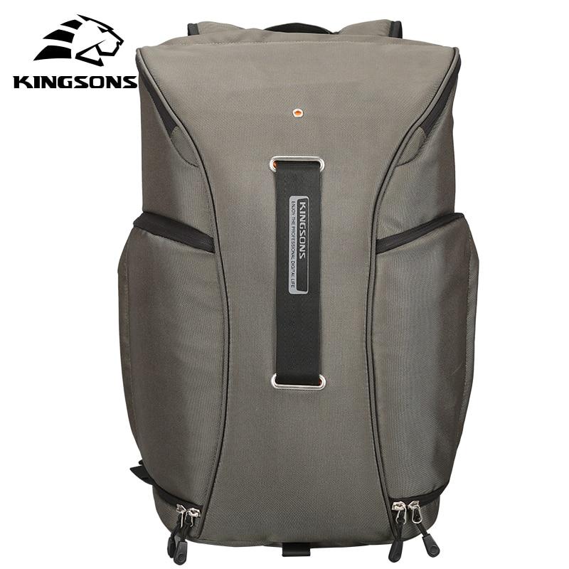 Kingsons Nylon Backpack Men Waterproof 15.6 Inches Laptop Camera Bag Pack Travel Teenager Male Mini Bagpack mochila
