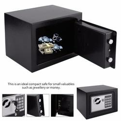 4.6L профессиональная безопасная коробка домашняя цифровая электронная безопасная коробка для дома и офиса ювелирные изделия деньги Против...