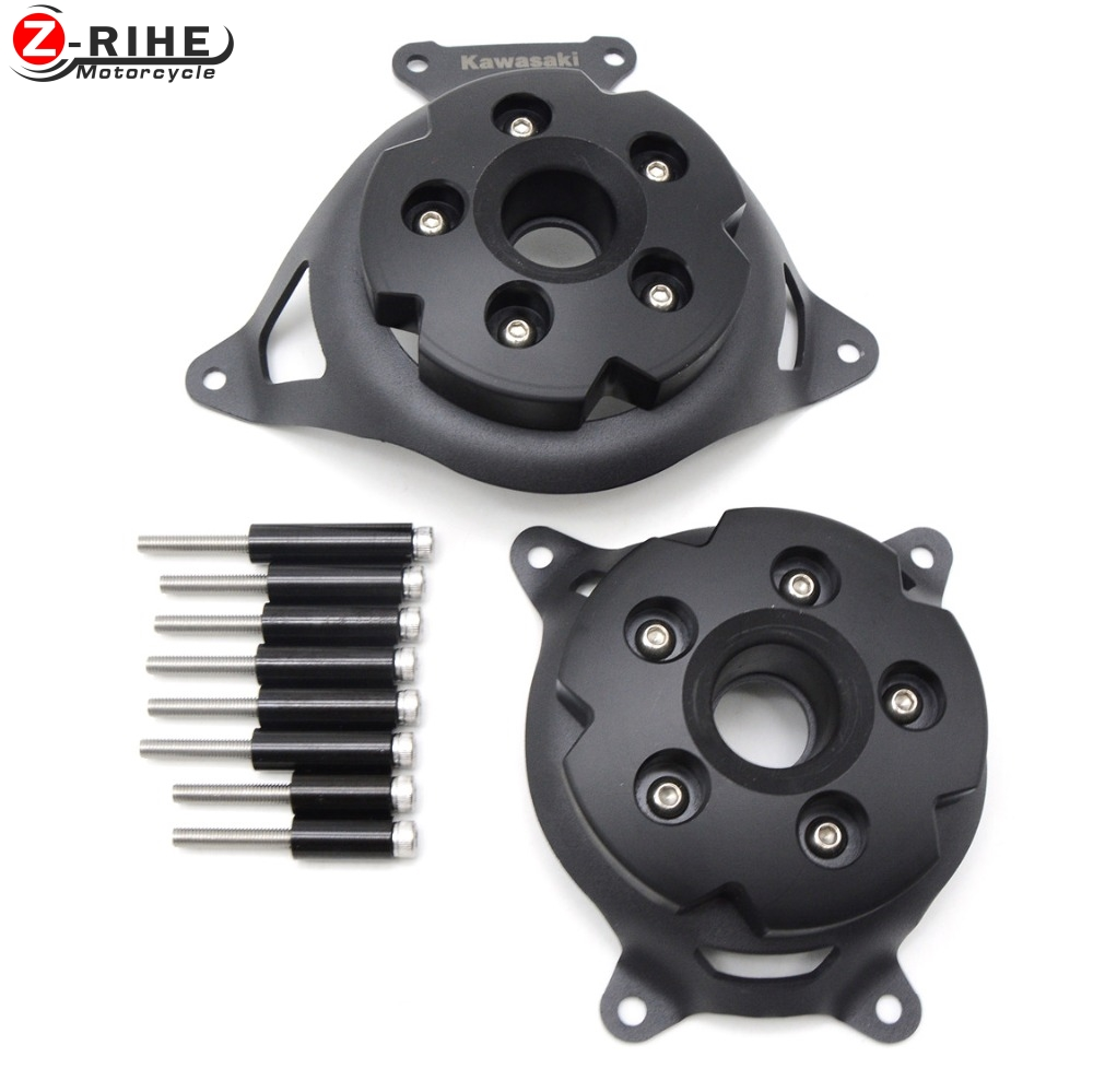 For KAWASAKI Z750 Z800 2013 2014 2015 2016 Motorcycle Engine Stator Cover Engine Protective Cover Left & Right Side Protector цена и фото