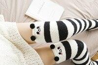 2017 Осенняя шерстяная более гетры бедра максимумы шланг Чулки для женщин выше колена носок чулки на осень-зиму теплые Носки для девочек