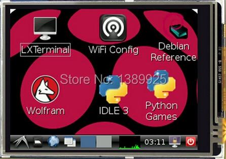 무료 배송 3.2 인치 TFT LCD 디스플레이 모듈 터치 스크린 라스베리 파이 B + B A + 라즈베리 파이 3