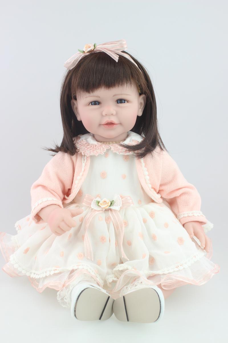 20 New arrival cheap dollar Handmade Silicone vinyl adora Lifelike  newborn Baby Bonecas Bebe kid toy doll reborn blackman malorie snow dog