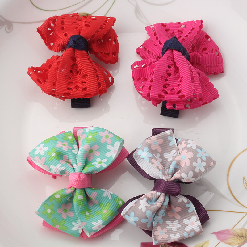 M MISM 2017 New Baby Hairpins Cute Dot Big Bow Hair Clip Children Hair Accessories Hairgrips Fashion Flora Headwear Headdress m mism new arrival korean style girls hair elastics big bow dot flora ponytail rubber hair rope hair accessories scrunchy women