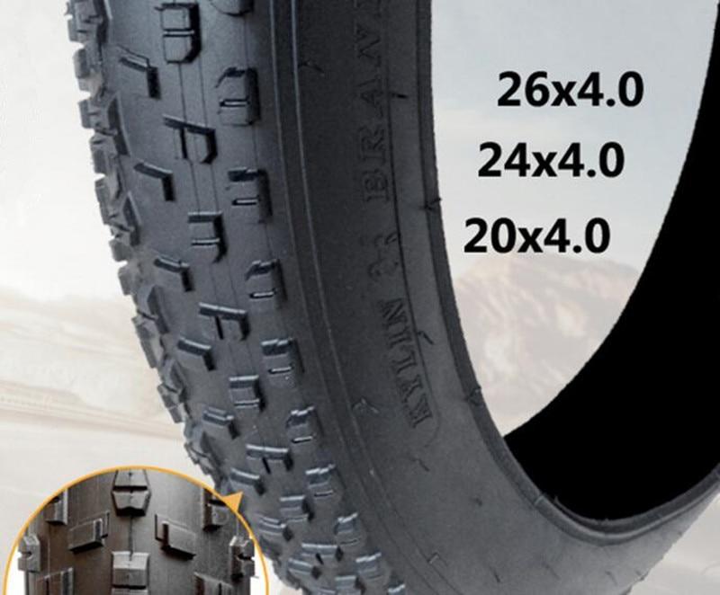 2pcs snow ground bike beach bicycle tires 20 24 26X4 0