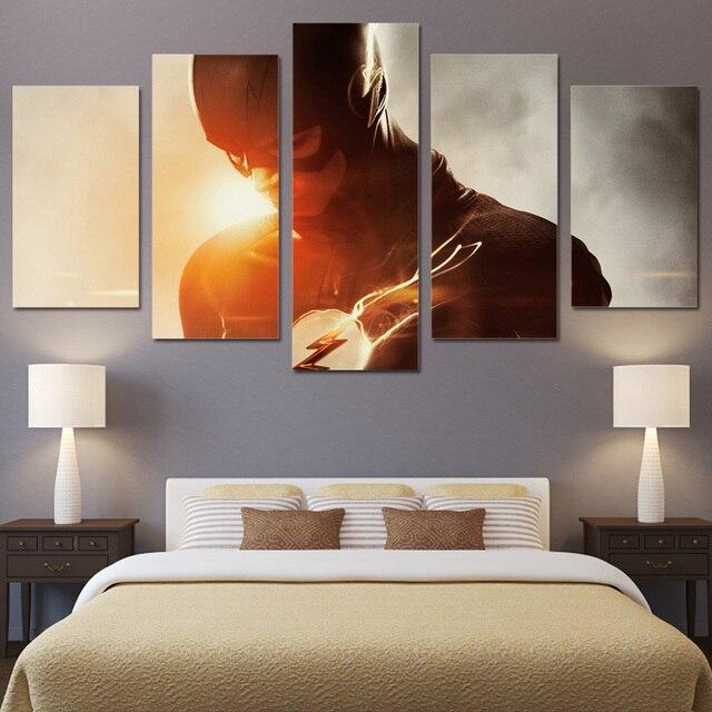 5 Panels Canvas Prints The Flash Season Painting Wall Art Home Decor