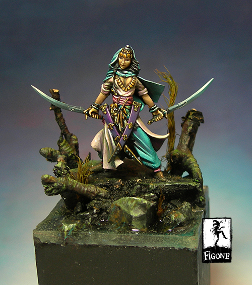 [Loong Way Miniatures] Figone Lharm Sheod Eastern Warrior 32mm  (not Inculd The Base) Resin Miniature